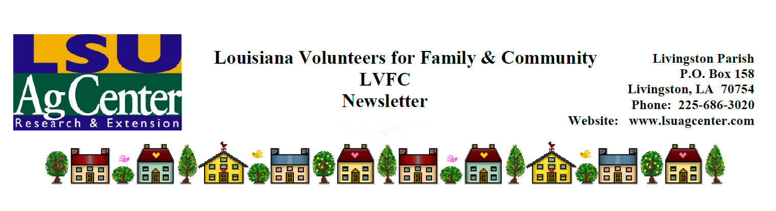 Louisiana Volunteers for Family and Community Newsletter