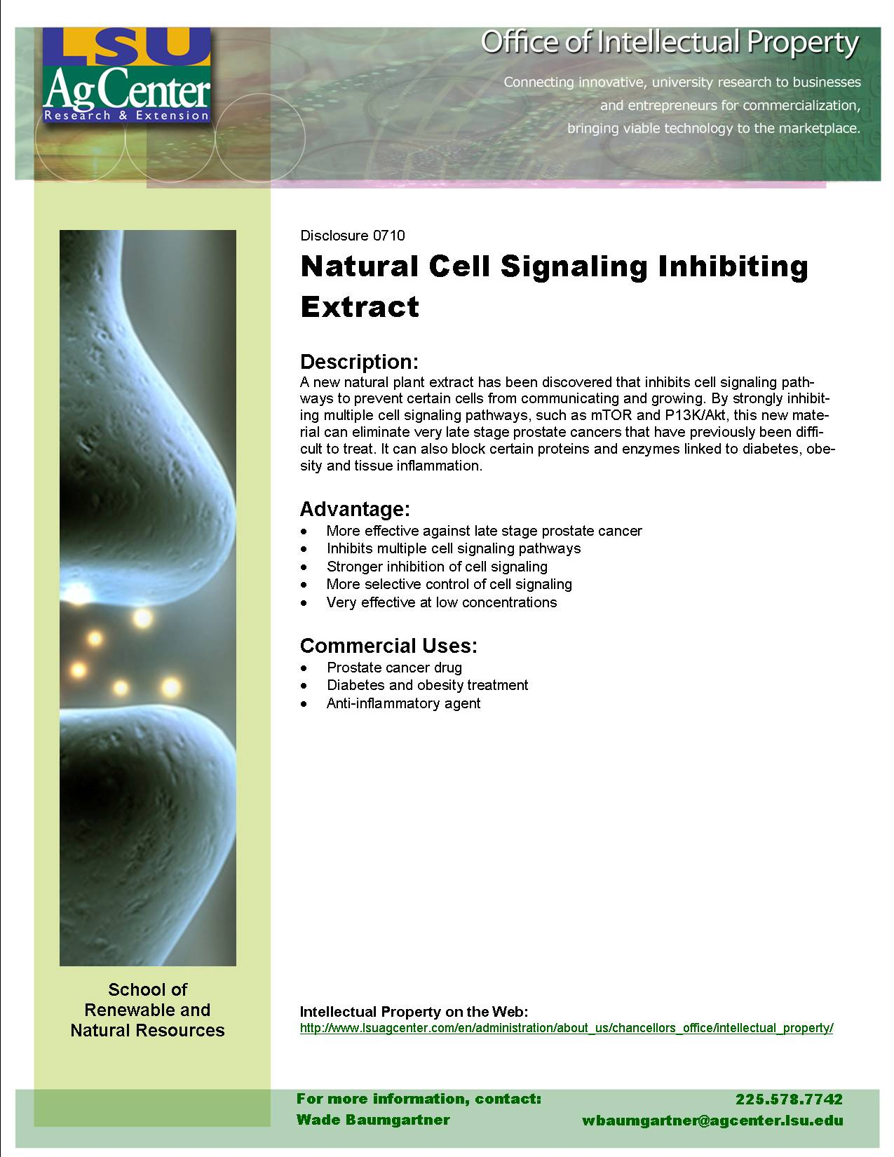 Natural Cell Signaling Pathway Inhibiting Extract