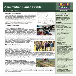 Assumption Parish Profile 2016-17