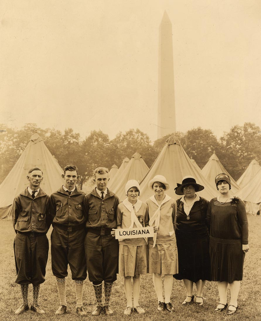 The first National 4-H Club Camp in 1927