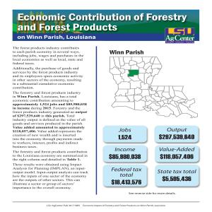 Economic Contributions of Forestry and Forest Products  on Winn Parish, Louisiana