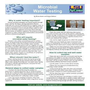 Microbial Water Testing