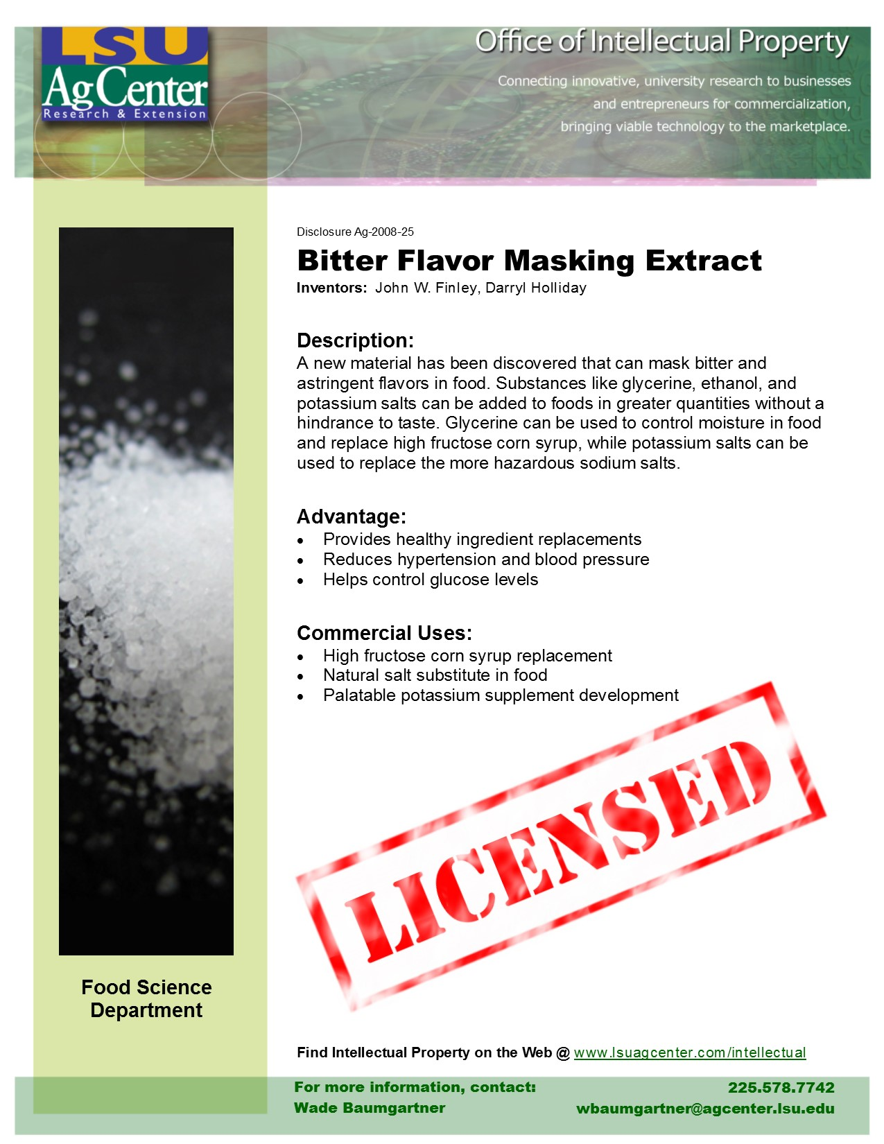 Bitter Flavor-masking Extract