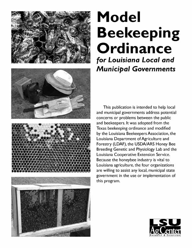 Model Beekeeping Ordinance for Louisiana Local and Municipal Governments