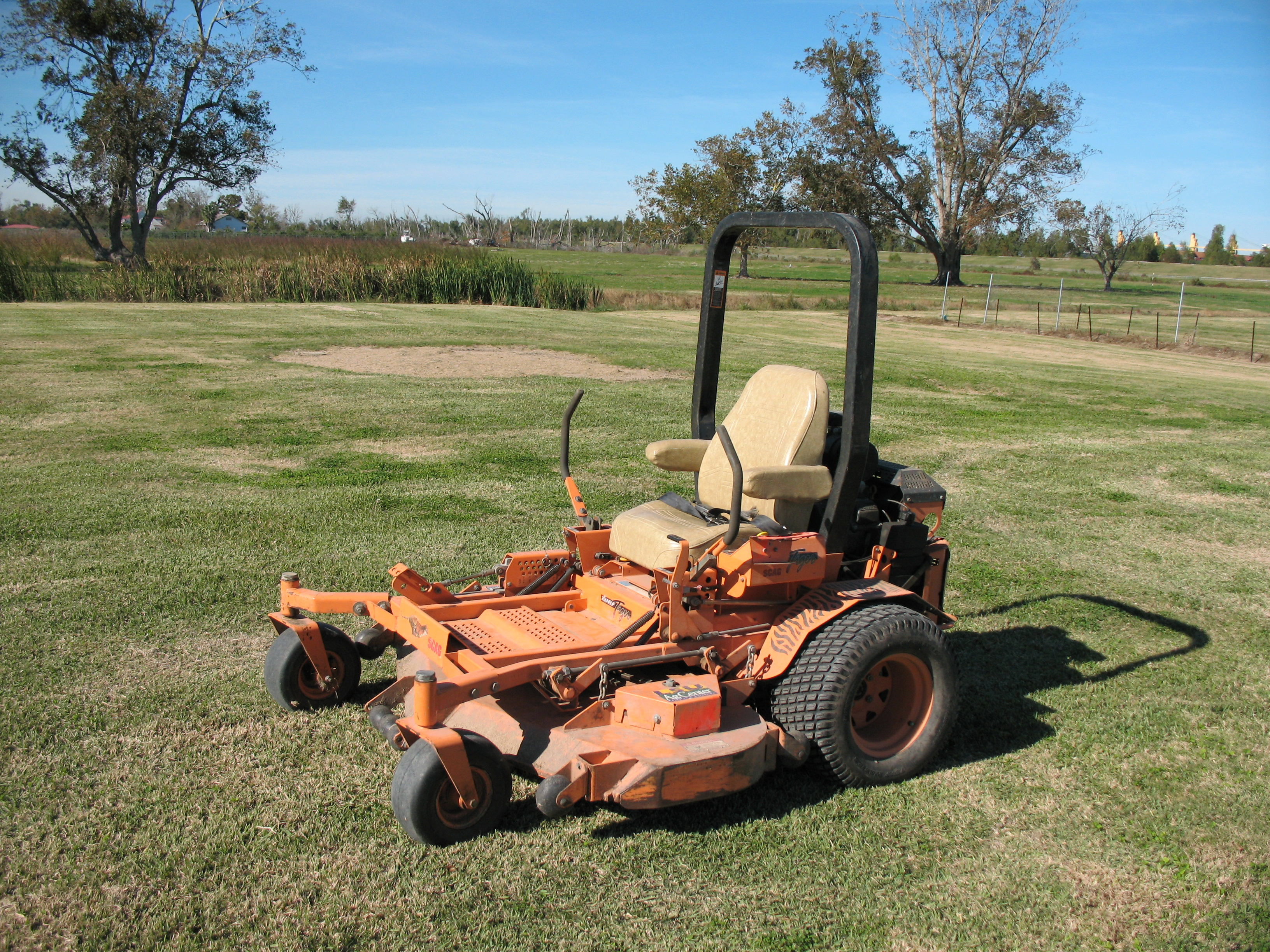ZTR mower with ROPS