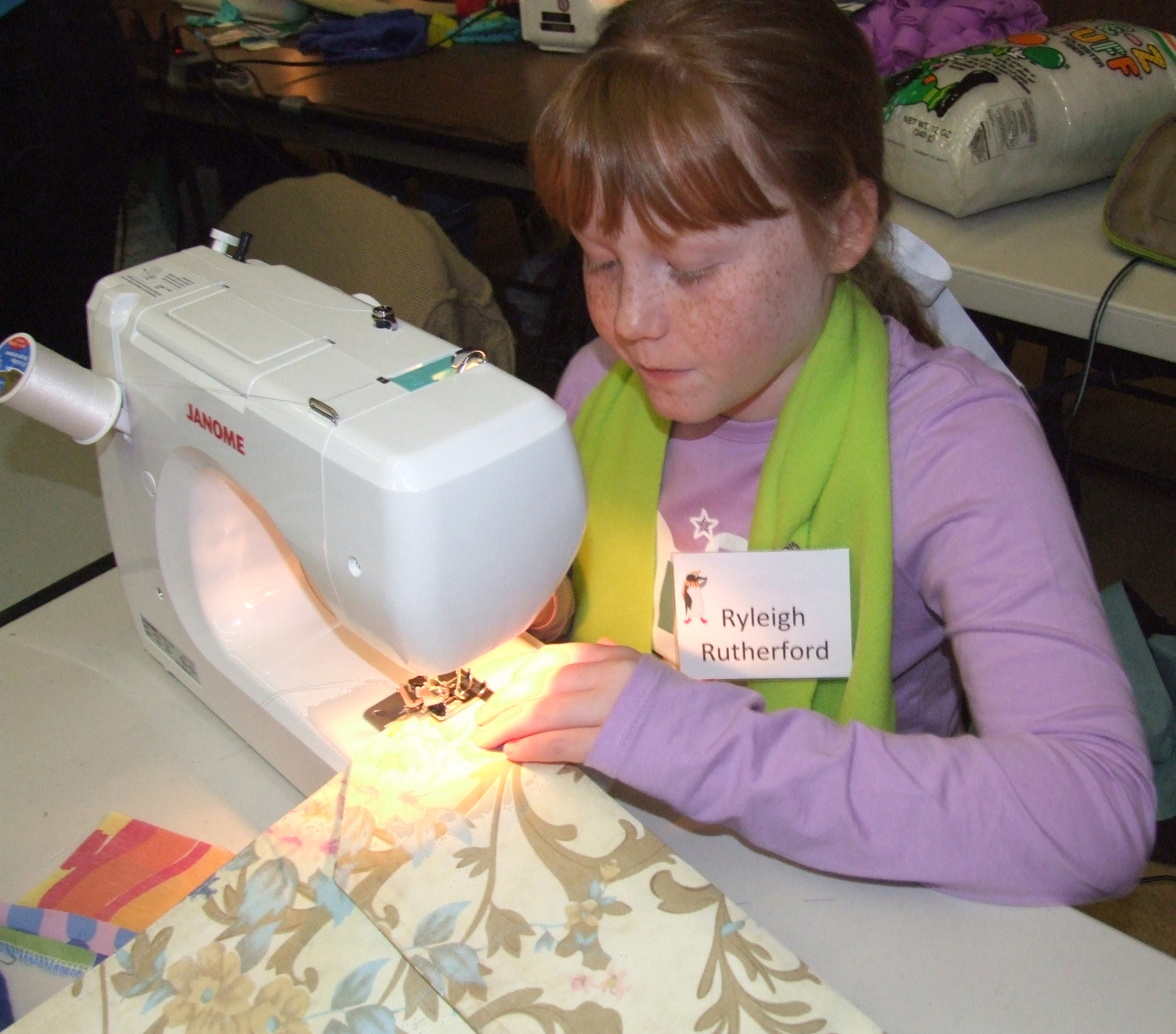Group has sew much fun at fashion camp