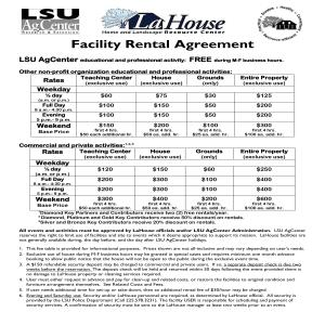LaHouse Facility Rental