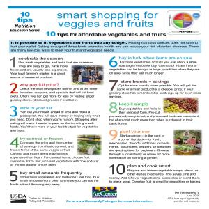 Smart shopping for veggies and fruits: 10 tips for affordable vegetables and fruits