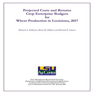 Projected Commodity Costs and Returns for Wheat, 2017
