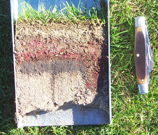 Layering in soils for 6 layers of soil