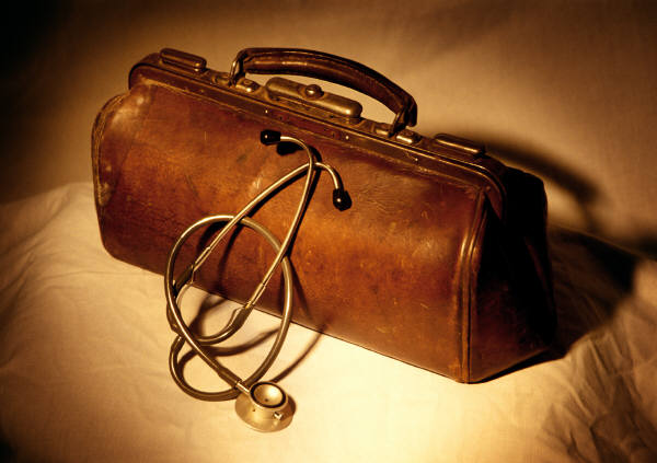 Picture of doctor bag and stethoscope