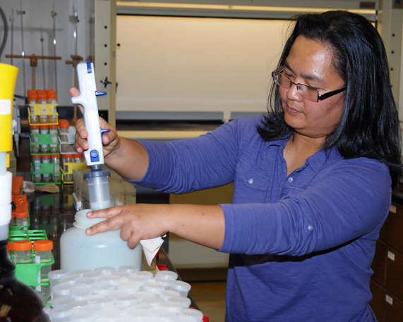 AgCenter soil scientist Brenda Tubaña