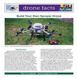 Build Your Own Sprayer Drone
