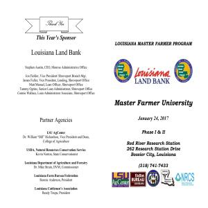 Louisiana Master Farmer Program