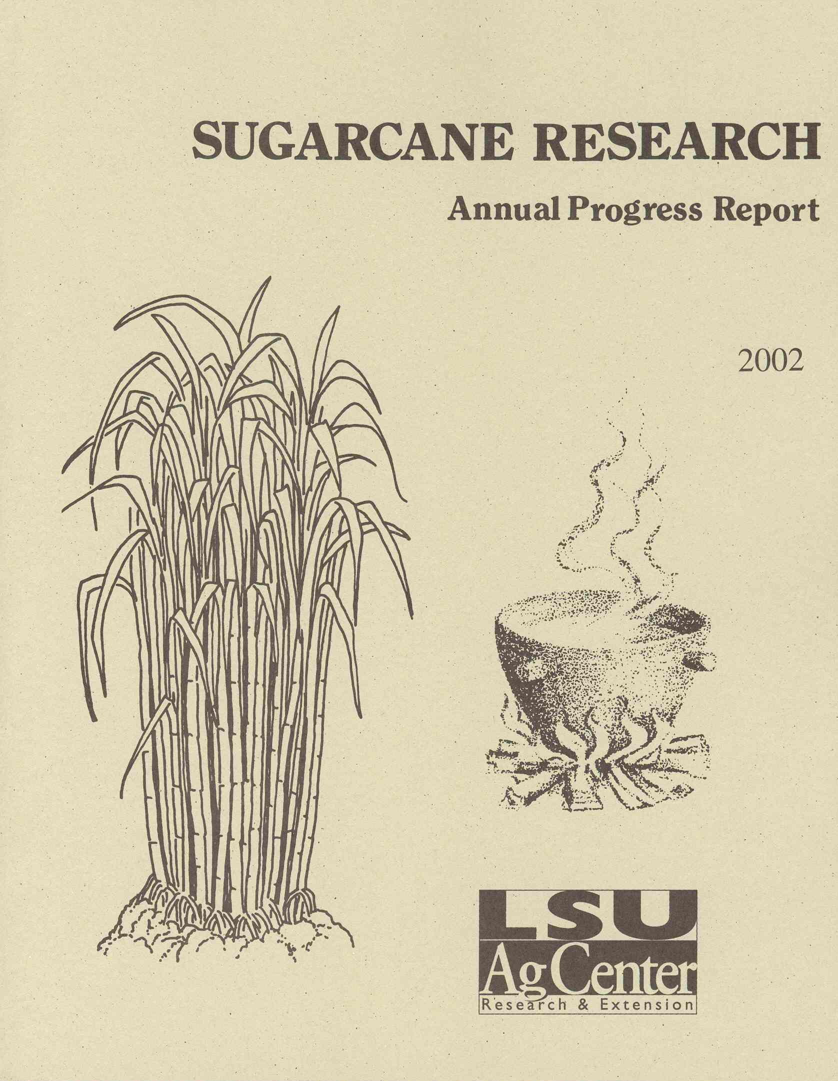2002 Sugarcane Annual Report Cover