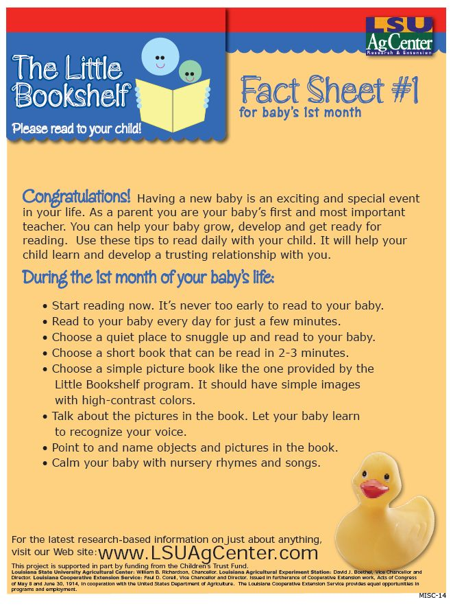 Fact Sheet #1 baby's first month