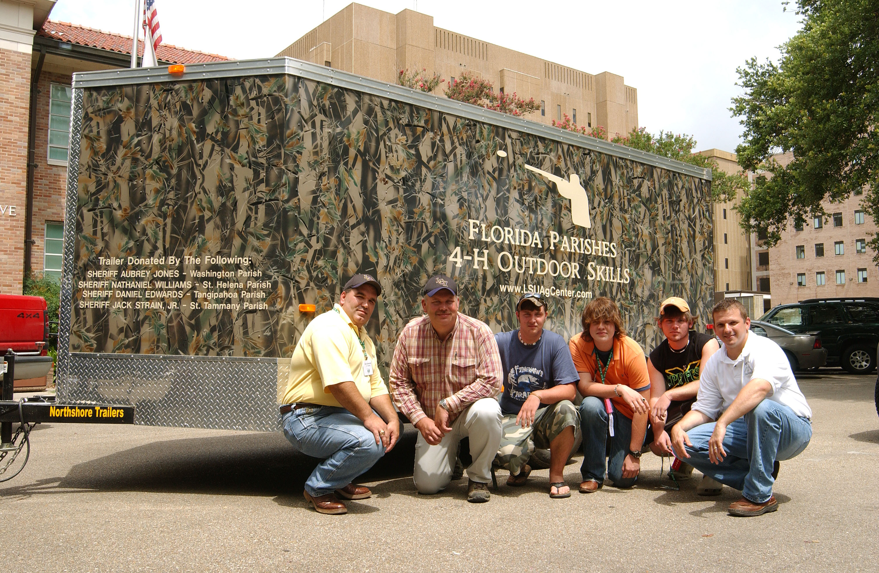 LSU AgCenter Outdoor Skills Program Gets Trailer Compliments Of 4 Sheriffs