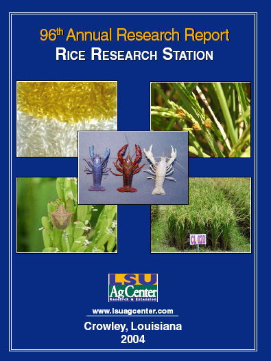 2004 Rice Research Station Annual Research Report