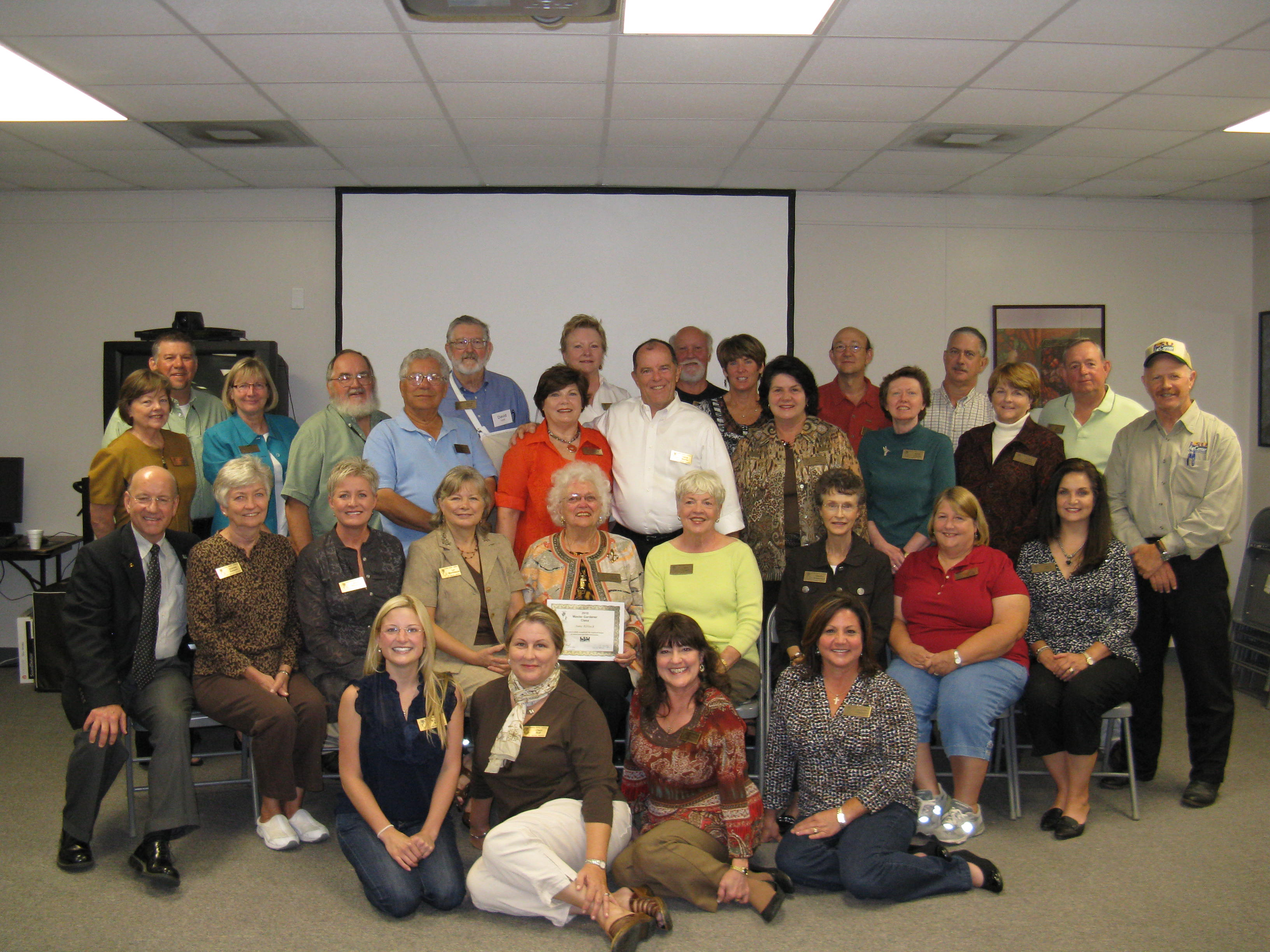 Photo of 2010 Master Gardener class