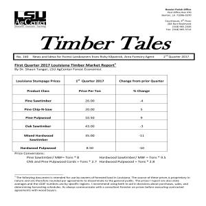 2017 Timber Tales Newsletters