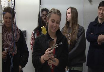 Students learn about the world of aquaculture