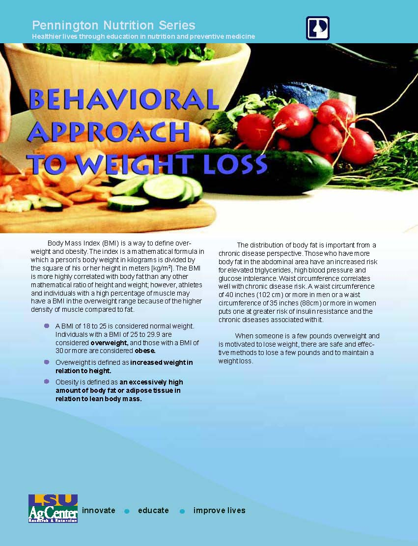 Behavioral Approach to Weight Loss