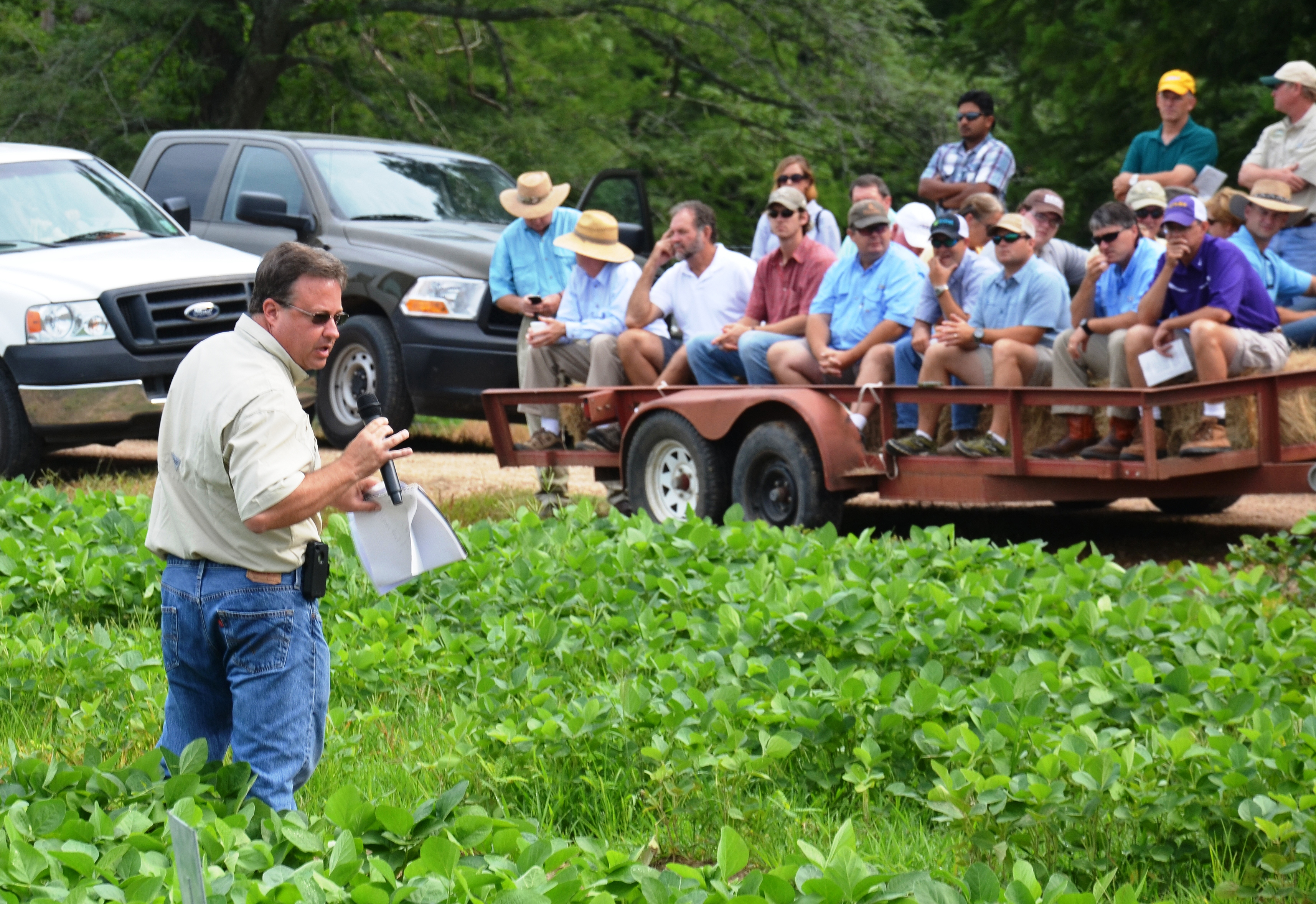 Row crop research featured at field day
