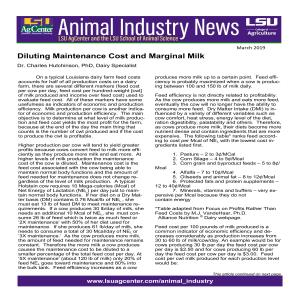 Animal Industry News