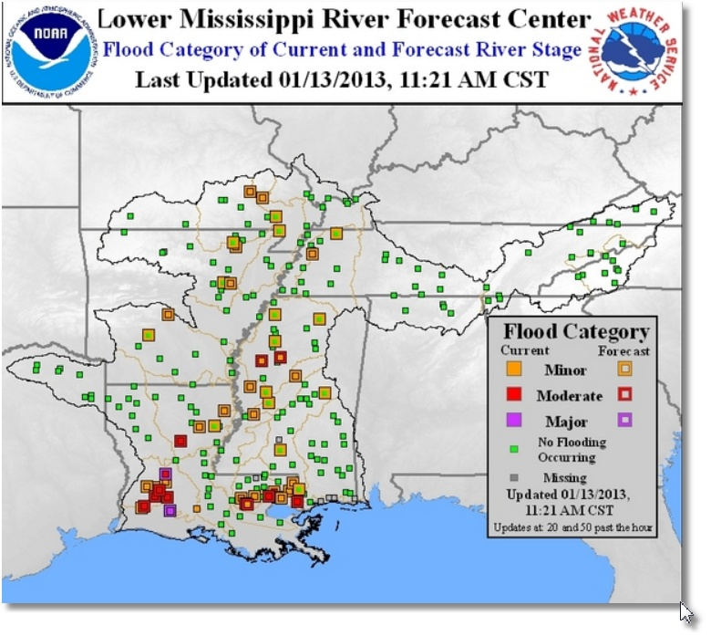 Using Flood Maps when Waters are Rising