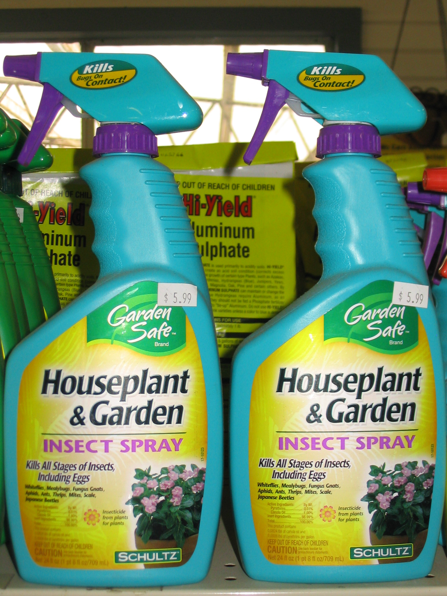Use insecticides only when needed