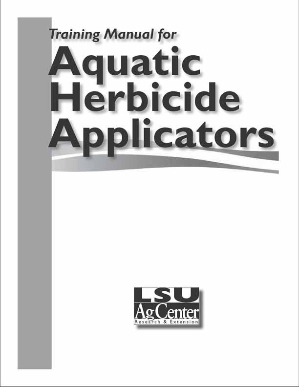 Training Manual for Aquatic Herbicide Applicators