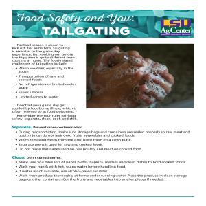 Food Safety and You — Tailgating