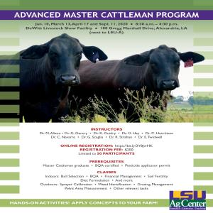 Advanced Master Cattleman Program