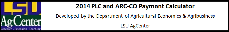 2014 PLC and ARC-CO Payment Calculator