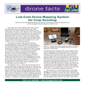 Low-Cost Drone Mapping System for Crop Scouting