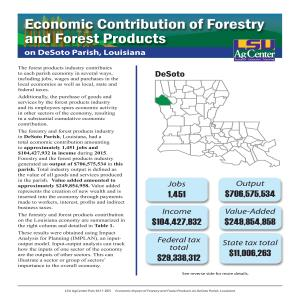 Economic Contribution of Forestry and Forest Products on DeSoto Parish, Louisiana
