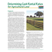 Determining Cash Rental Rates for Agricultural Land