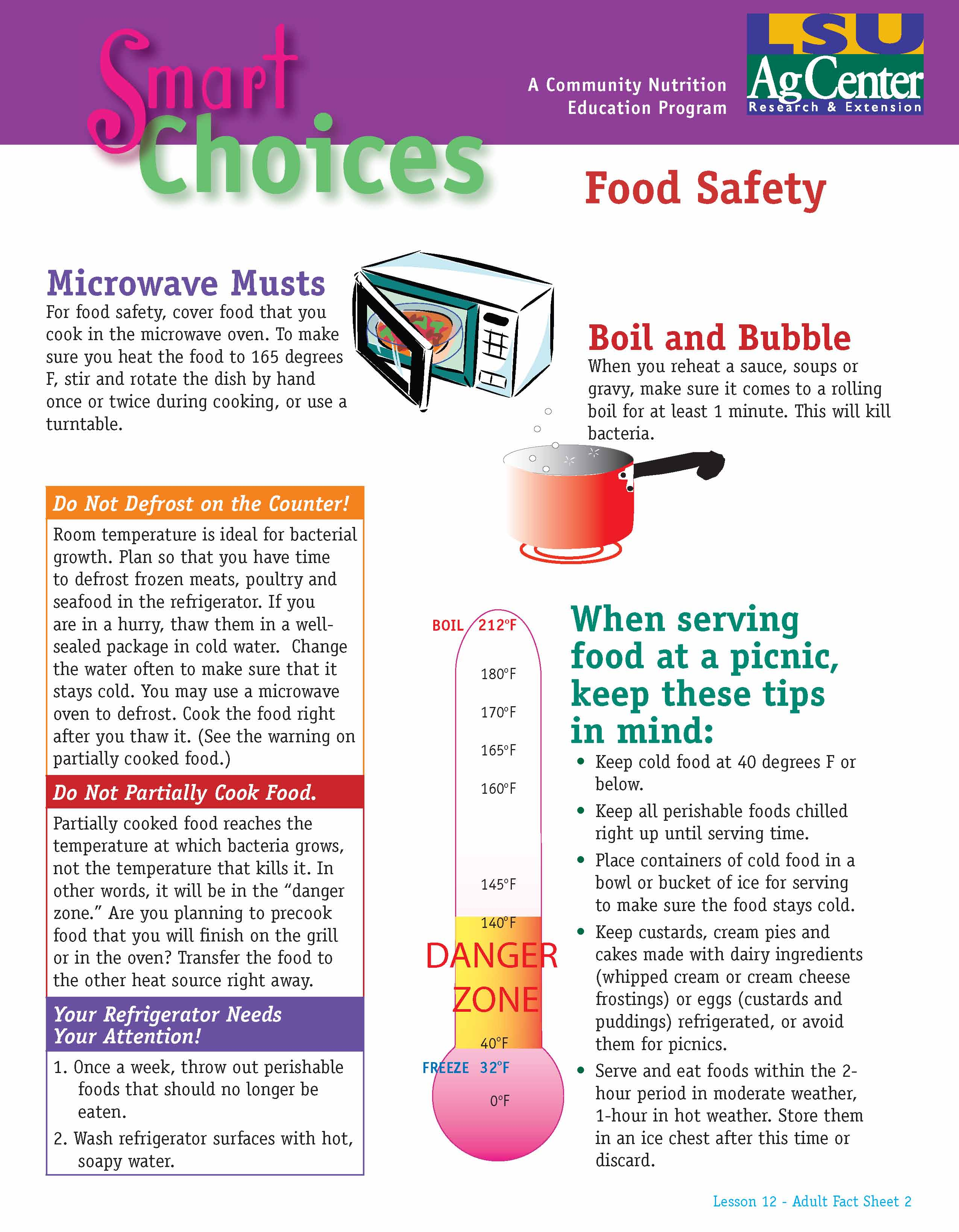 Smart Choices:  Keeping Food Safe