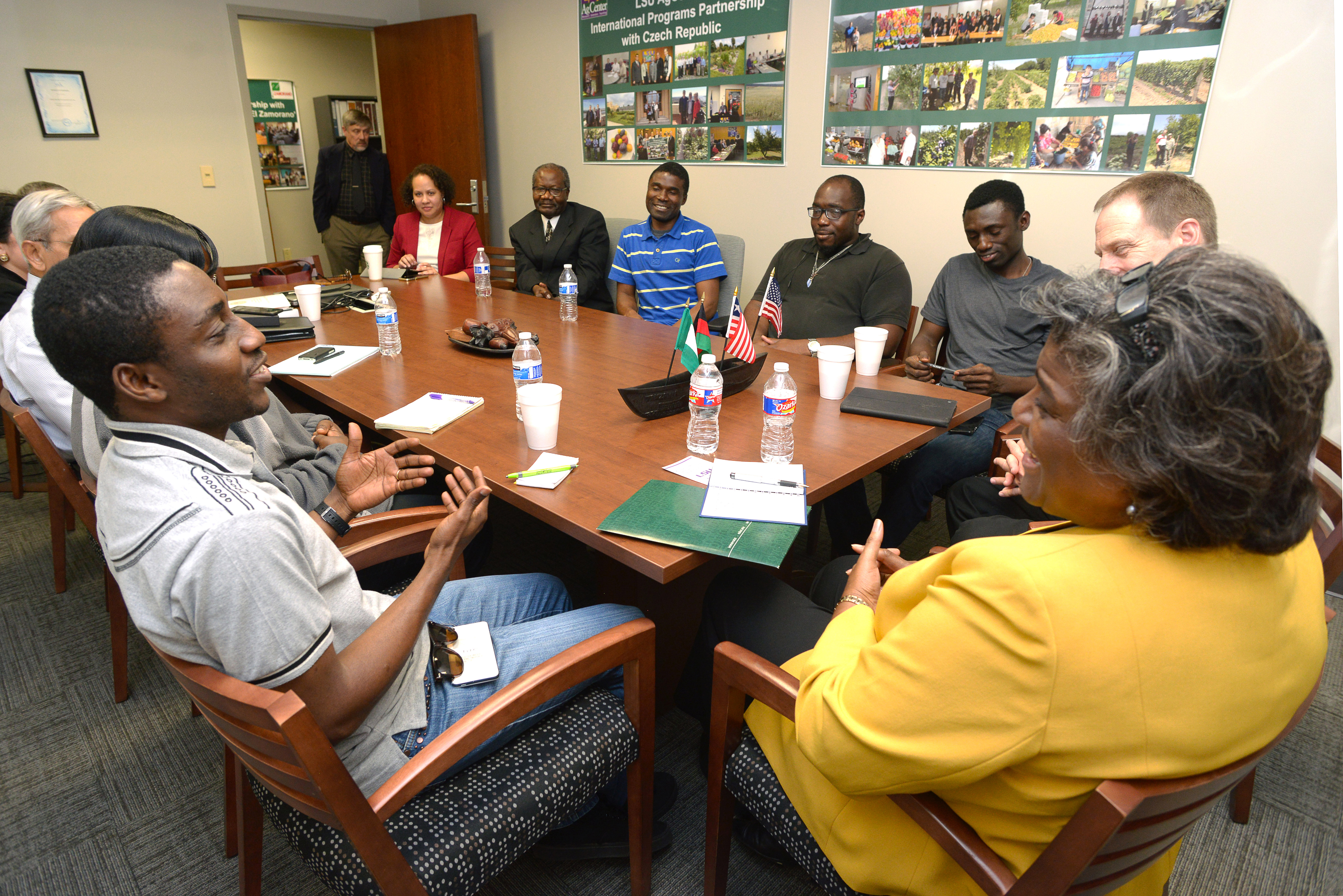 U.S. Bureau of African Affairs official visits LSU AgCenter, praises international outreach