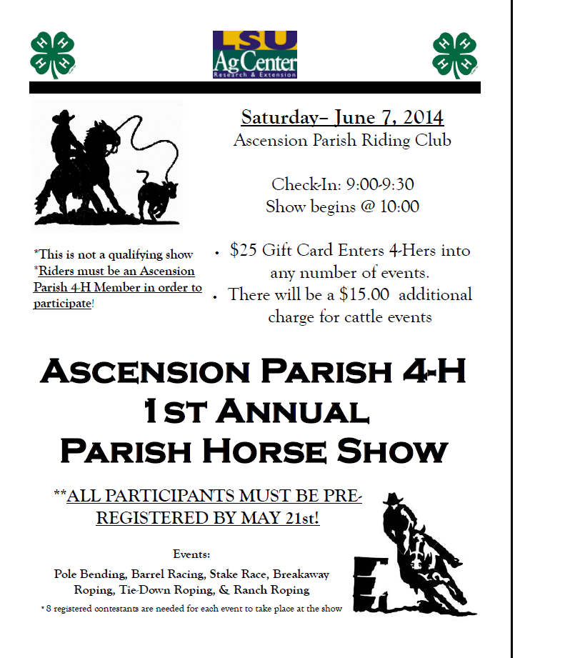 Ascension Parish Horse Show