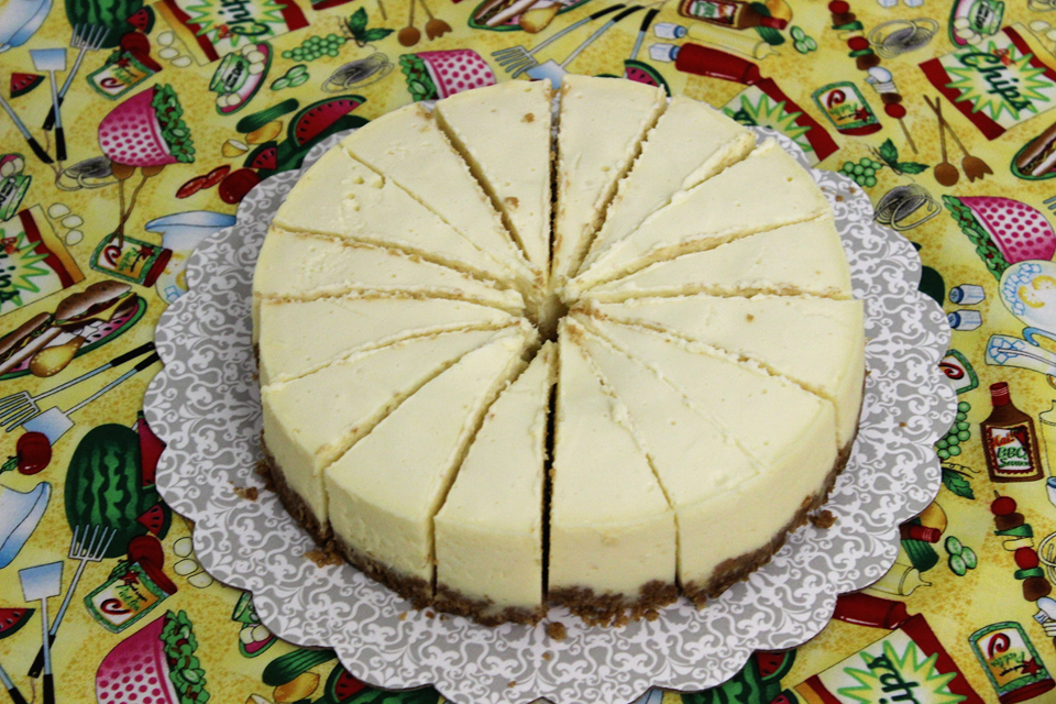 Cheesecake cooked in Electric pressure cooker