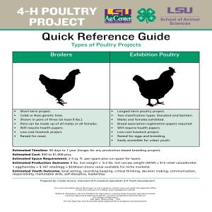 4-H Poultry Project Quick Reference Guide