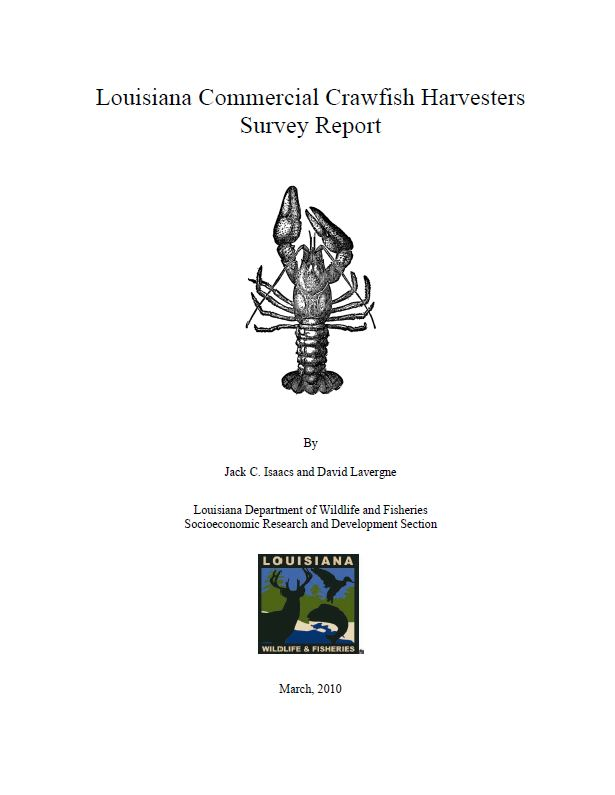 Louisiana Commercial Crawfish Harvesters Report