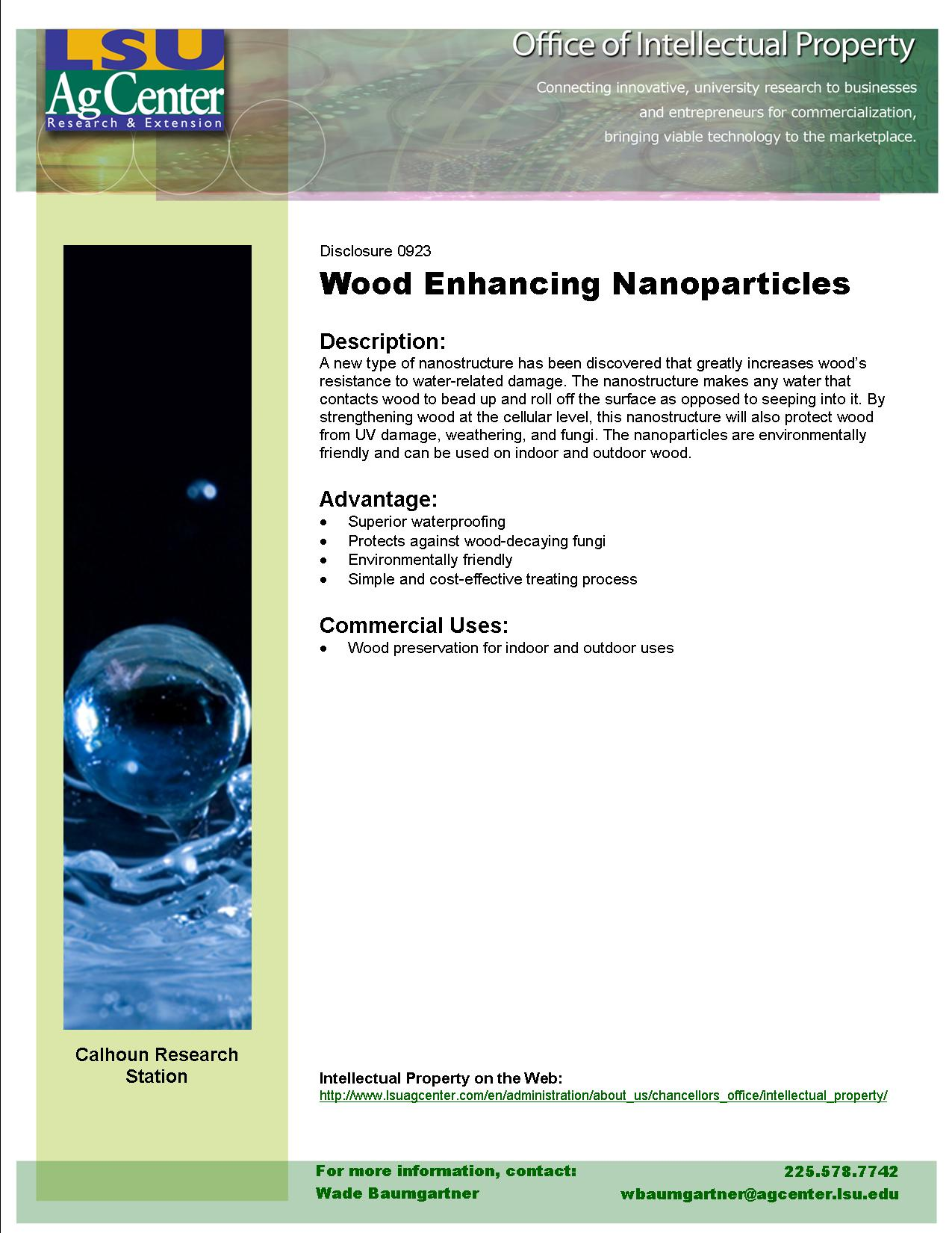Wood-enhancing Nanoparticles