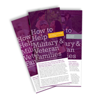 How to Help Military and Veteran Families