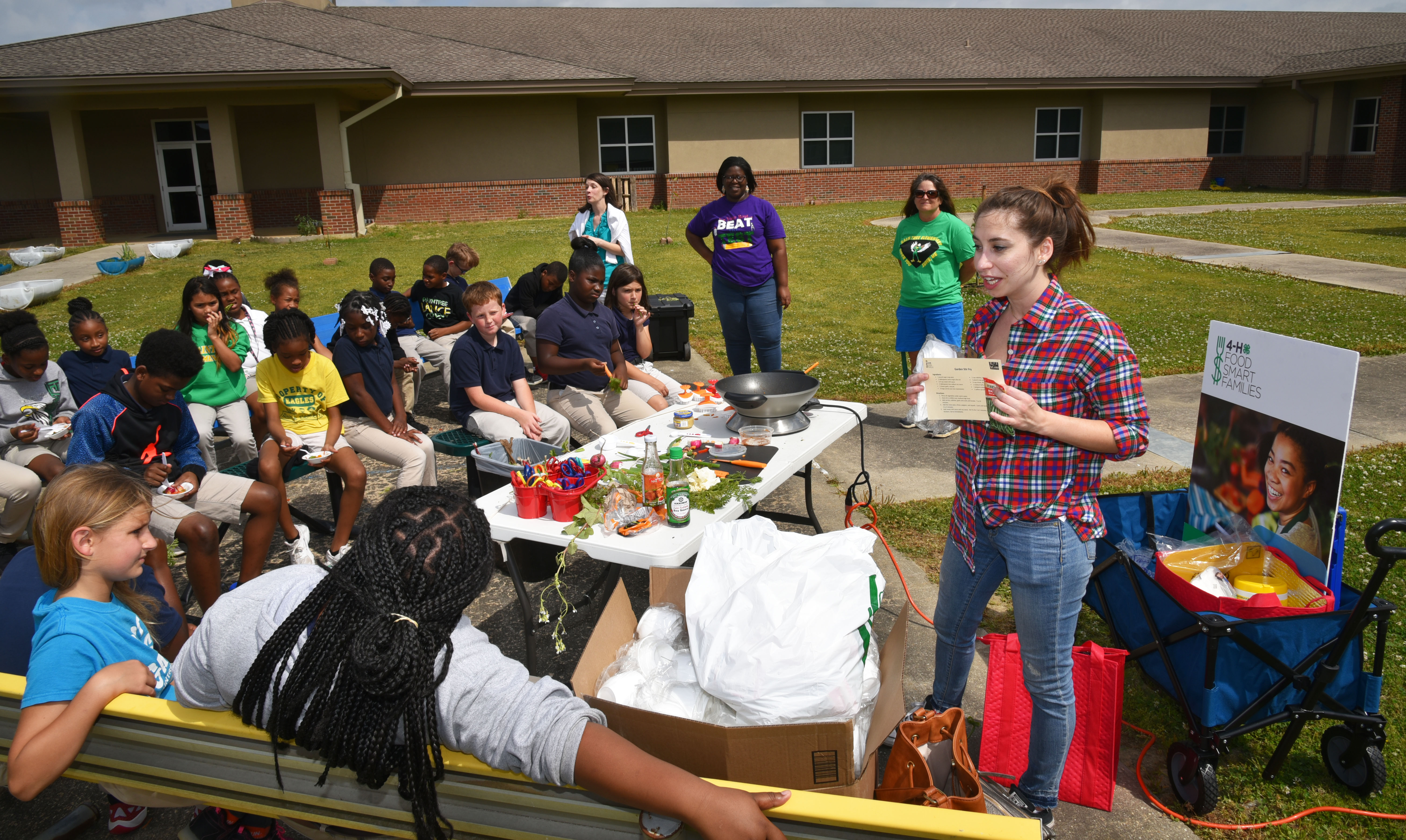 Health lessons come from school garden