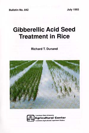 Gibberellic Acid Seed Treatment in Rice (July 1993)