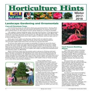 Horticulture Hints Winter 2017-2018