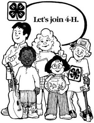 Let's Join 4-H poster