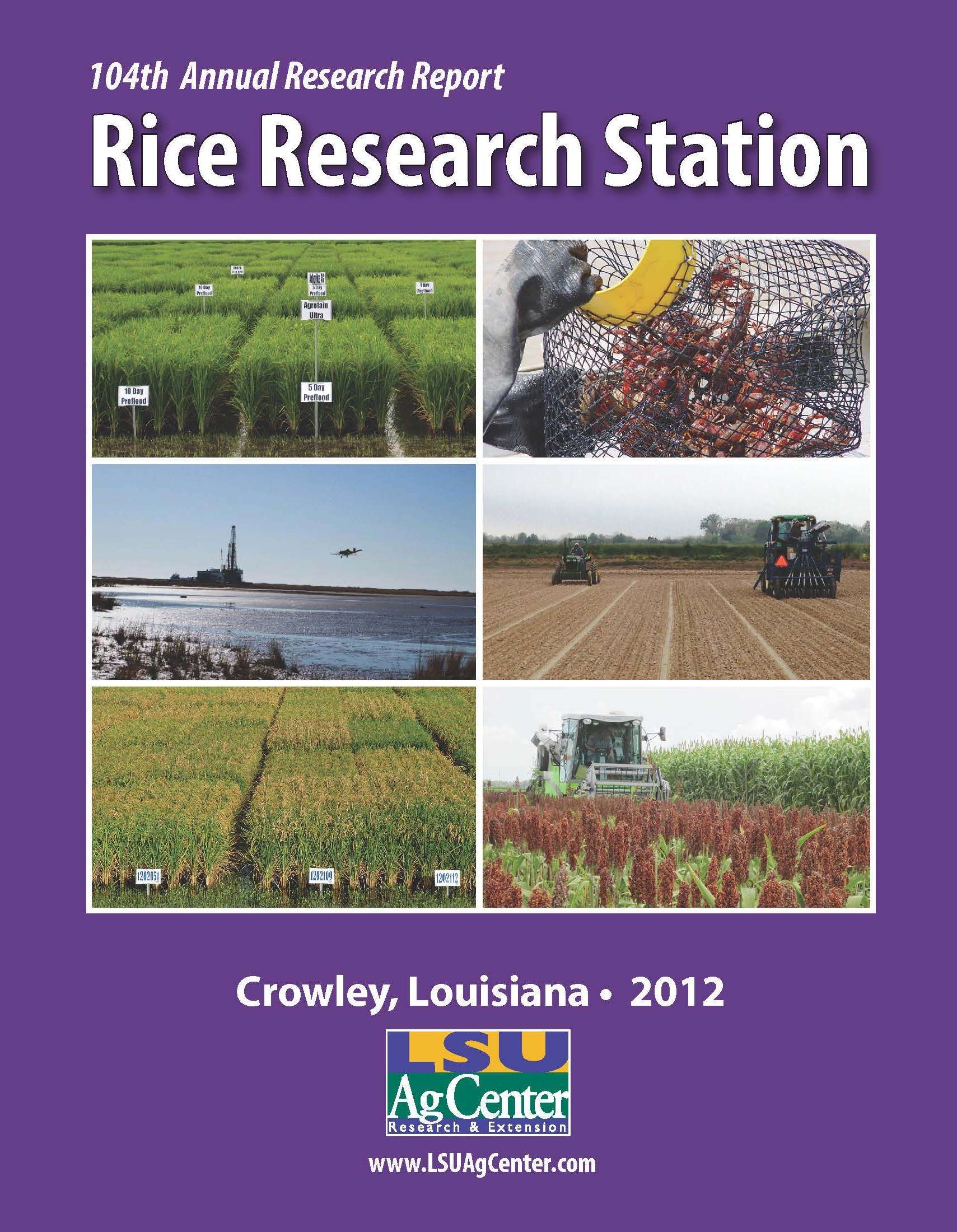 2012 Rice Research Station Annual Report